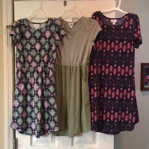 Girl's Lularoe Dress Lot - Size 12